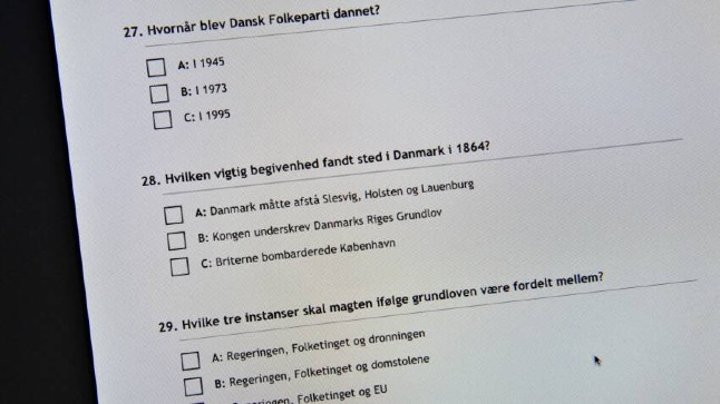 Learning materials for Danish citizenship test now 'badly out of date'