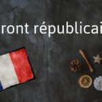 Word of the day: Front républicain