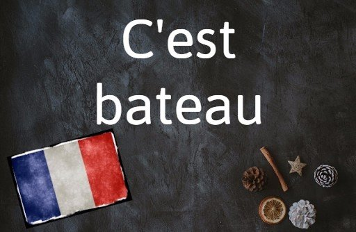 French phrase of the day: C'est bateau