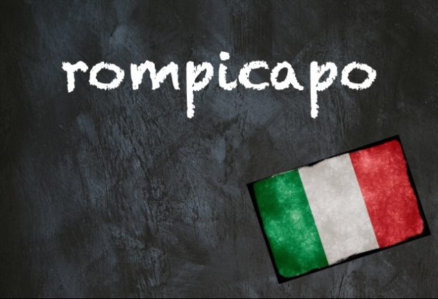Italian word of the day: 'Rompicapo'