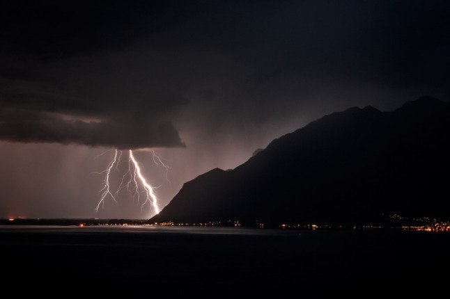Thunderstorms and wild weather to continue across Switzerland until Thursday