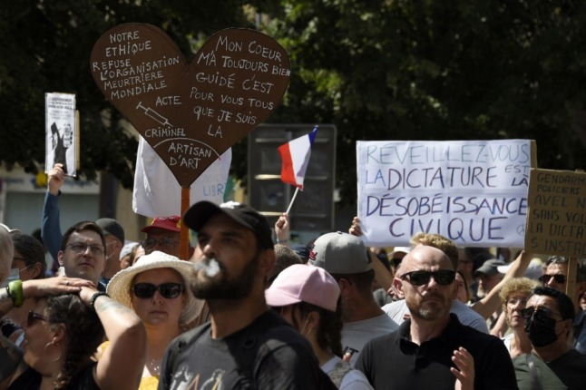 France's health passport protests enter sixth weekend: Where and when demos will take place