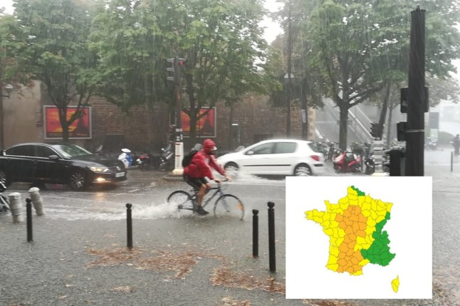 Storm warnings issued for France as heatwave set to break