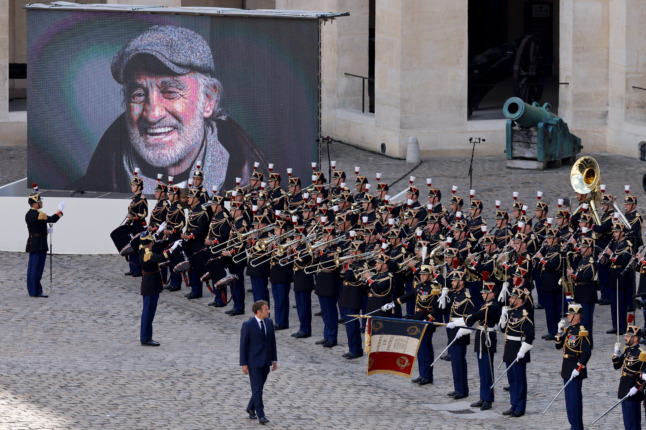 IN PICTURES: France stages national tribute to film icon Belmondo