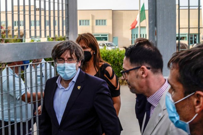 Catalan ex-leader released from jail, free to leave Italy