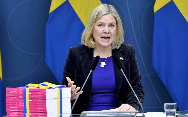 Swedish government announces 2022 budget 'to take Sweden forward'