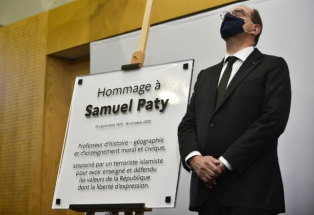 France pays tribute to teacher beheaded over Mohammed cartoons