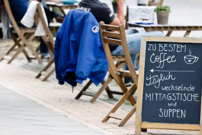 A cafe in Kiel, northern Germany. Many people in the service industry have 'mini jobs'.
