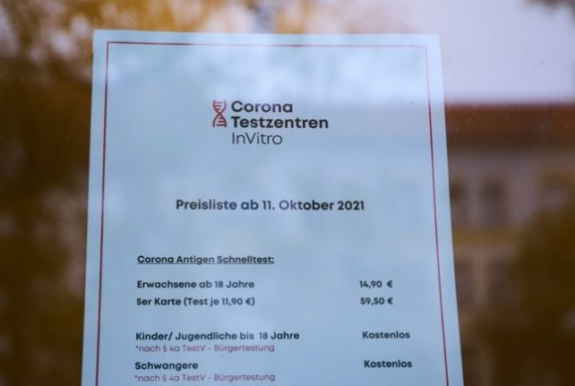 Germany ends free rapid Covid-19 tests for all
