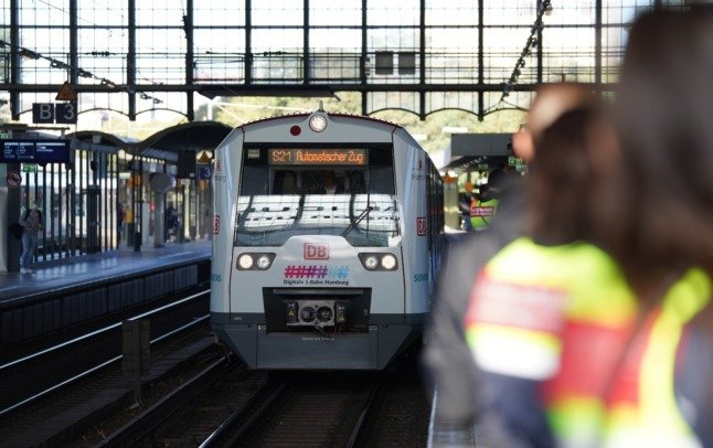 Germany unveils first self-driving train