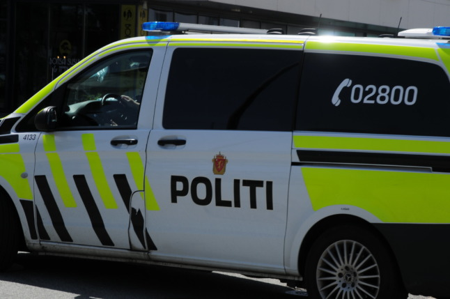 PST have said the Kongsberg bow and arrow attack appeared to be terror-related. Pictured is a Norwegian police van unrelated to the attack.