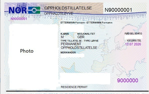 Why Brits in Norway may need to get their post-Brexit residence cards changed